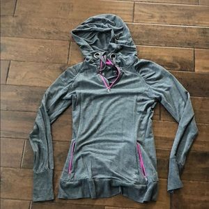 MPG Sport Gray and Pink Hoodie EUC.